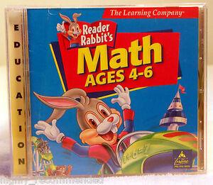 Reader Rabbit Math Ages 4-6 (Windows & Mac PC, 1998)