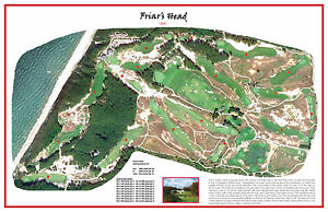 Friar's Head 1995 - Coore/Crenshaw/Bakst- Vintage Golf Course Map