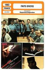 FICHE CINEMA : FAITS DIVERS - Raymond Depardon 1983 New Items
