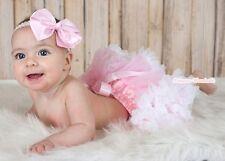 Newborn Baby Pink & White Pettiskirt Pageant Tutu N24