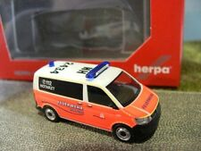 1/87 Herpa VW t6 furgoneta emergencias bomberos hamburgo 092890