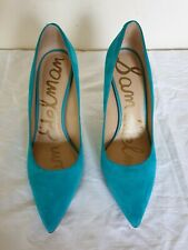 Sam Edelman Womens hazel Suede Pointed Toe Classic Pumps, Teal Turquois Size 10