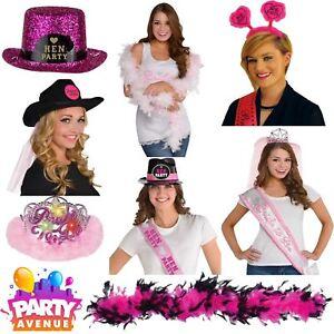 Hen Night Girls Night Out Fancy Dress Accessories Hats Sash Bachelorette Lot