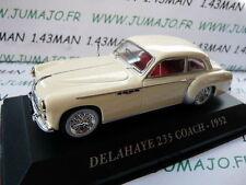 Voiture 1/43 IXO altaya Voitures d'autrefois : DELAHAYE 235 coach 1952