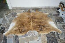 BRINDLE EXOTIC-  Rug HAIR ON SKIN  Leather cowhide 4381-   65'' x  70''