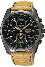 SEIKO SNDD69P1,Men's Chronograph,Stainless Steel Case,Leather,100m WR,SNDD69