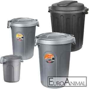 Futtertonne mit Deckel, 8l bis 100l, Futterbox Futtereimer Pferdefutter Hunde