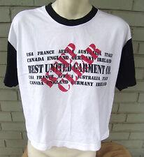Best United Garment Company USA France Italy Short White T-Shirt Medium