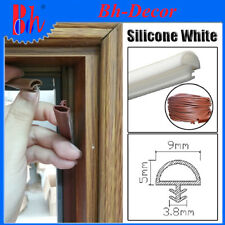 Extruded Silicone Rubber Sealing Strips Door Frame Seals Weatherstrips 9mm White