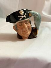 "1951 Royal Doulton 4"" Long John Silver D6386 Toby Jugs Mug Pirate Parrot"