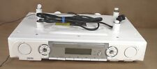 jWIN Under Cabinet Stereo CD Player with Dual Alarm Clock Radio White JL-K755