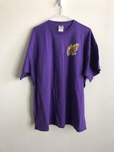Mountain Dew Pitch Black Vintage Purple Kick Off Rare 2XL T-Shirt