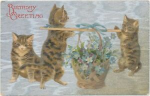 Helena Maguire Cats Carrying Blue Flowers