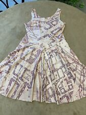 HARRY POTTER Dress Woman's XS Marauders Map Stretch Fit Flare Skater