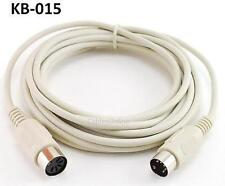 15ft DIN-5 Male/Female MIDI or AT Keyboard Extension Cable, CablesOnline KB-015