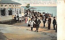 c.1905 Merry Go Round Rocky Point RI post card Amusement Park