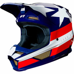 FOX V1 Regl USA Mx Motocross Helmet Limited Edition