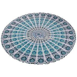 "Indian Round Mandala Tapestry Wall Hanging Throw Towel Beach Yoga Mat Throw 72"""