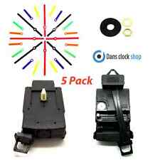 5 Pack Quartz Clock Pendulum Drive Unit With Movement Mechanism Coloured Hands