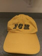 XCM Logo Baseball Hat Cap Yellow Adjuatable Strap Very Good Quality