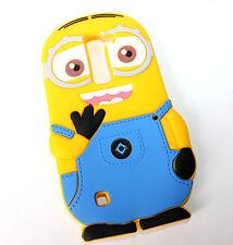 LG Treasure Tracfone - Soft Rubber Silicone Skin Case Cover Cute Yellow Minion