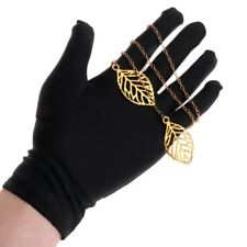 1Pair Soft Inspection Work Gloves Jewelry Protection Blend Cotton Lisle Black