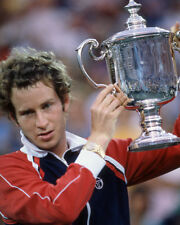 1981 Tennis Pro JOHN MCENROE Glossy 8x10 Photo Trophy Print Champion Poster