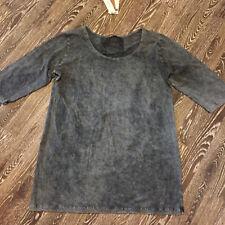Barbara Speer Lagenlook  Long Shirt Biobaumwolle schwarz antik Gr.5 NEU