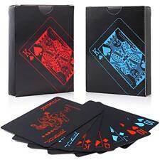Auihiay 2 Pack 54 PEZZI Impermeabile in PVC Poker Carte da gioco, classico Trucco Magico