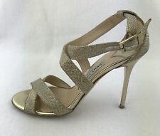 Jimmy Choo gold soir spécial occassion Chaussures Escarpins Sandales S.37.5