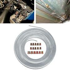 "25 Ft. Roll Coil of 3/16"" OD Copper Nickel Brake Line Tubing Kit Fittings"