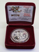 1987 Disney's MICKEY'S HOLIDAY TREASURES 1 Troy oz .999 Silver Art Proof Round