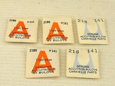 NOS Bulova ACCUTRON Parts for Model 218 - Cell Straps #141 Lot of 5 - Sealed!