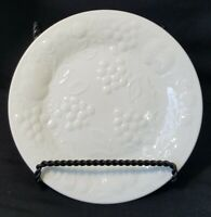 """Gibson Everyday White Embossed Fruit Grapes Salad Plates EUC! 7 1/4"""""""
