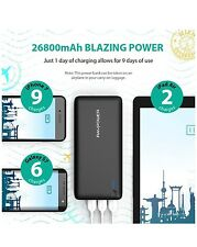Battery Pack RAVPower 26800 Portable Charger 26800mAh Power Bank +2.4A Wall Char