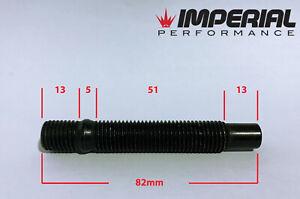 x4 M12x1.5 Wheel stud and nut conversion kit 82mm length BLACK studs nuts