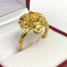 24K Solid Gold Cute Ring . Sz 7 , 4.93 Grams