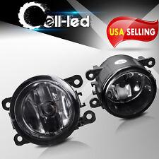 for Acura Honda Ford Nissan Suzuki Clear Fog Light Front Bumper Lamps+Bulbs PAIR