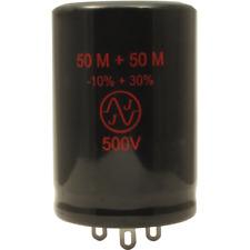 Capacitor, JJ Electronics, 500V, 50/50µF, Electrolytic