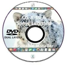 Mac OS X 10.6.3 Snow Leopard Bootable DVD DL Installer, Update, Upgrade OSX