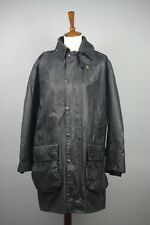 Barbour Border A200 Vintage Waxed Coat Jacket C38/97CM Fishing Hunting Casual