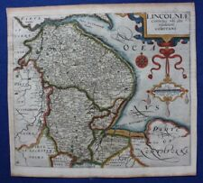 LINCOLNSHIRE, original antique county map 'LINCOLNIAE ...', Saxton & Kip, 1637
