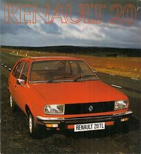 Renault 20 TL 1976-77 UK Market Sales Brochure