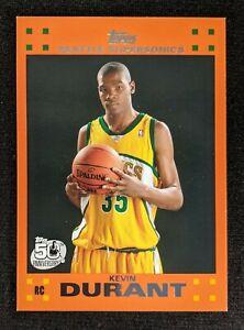 Kevin Durant 2007-08 Topps Orange Rookie Border SP Variation Card #2 of 14 Nets