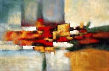 Abstract  R.Y.G., 48x72 (4 ft. x 6 ft.) Oil Painting on Canvas, Canvas Only,