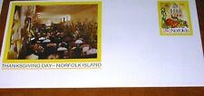 Norfolk Island Prepaid cover Thanksgiving Day 24c..No 006 (ref 111)