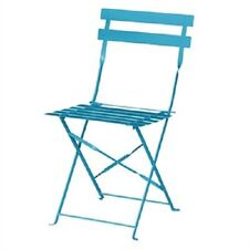 More details for bolero blue pavement style steel chairs (pack of 2)  terrace patio cafe gk982
