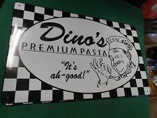 "Collectible Tin Sign-Dino'S Premium Pasta ""It's ah-good"".Free Postage Usa"