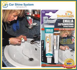 ENAMEL REPAIR KIT Bath Sink Shower Tray CHIP WHITE Ceramic Acrylic 24g