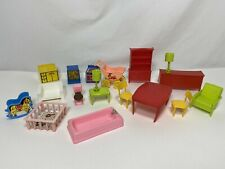 Vintage Lot Plastic Dollhouse Furniture Type Doll House MPC Arco
